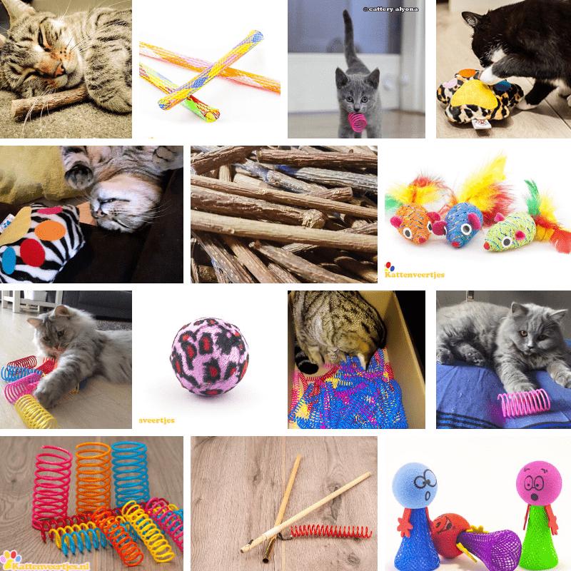 Verschillende kattenspeeltjes